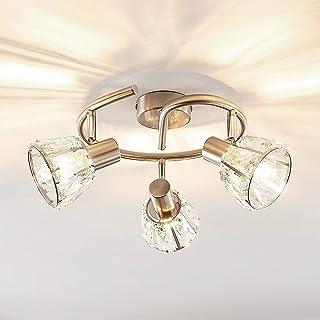 Lámpara de techo 'Kosta' (Moderno) en Gris hecho de Metal e.o. para Salón & Comedor (3 llamas, E14, A++) de Lindby | lámpara de techo, lámpara