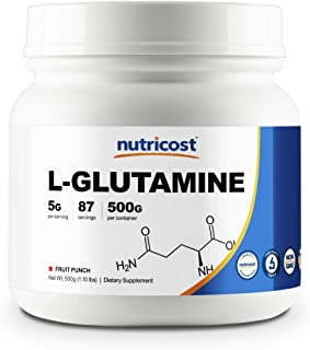 Nutricost L-Glutamine (500 Grams) (Fruit Punch)
