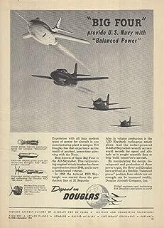 Douglas Big Four: D-558-2 Skyrocket Skyknight Syraider Skyshark ad 1951