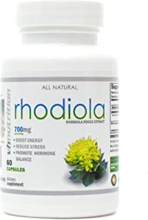 VH Nutrition | Rhodiola Rosea Supplement | 700 mg Rhodiola Root Pills to Improve Energy, Mood, and Focus | Adrenal Support...
