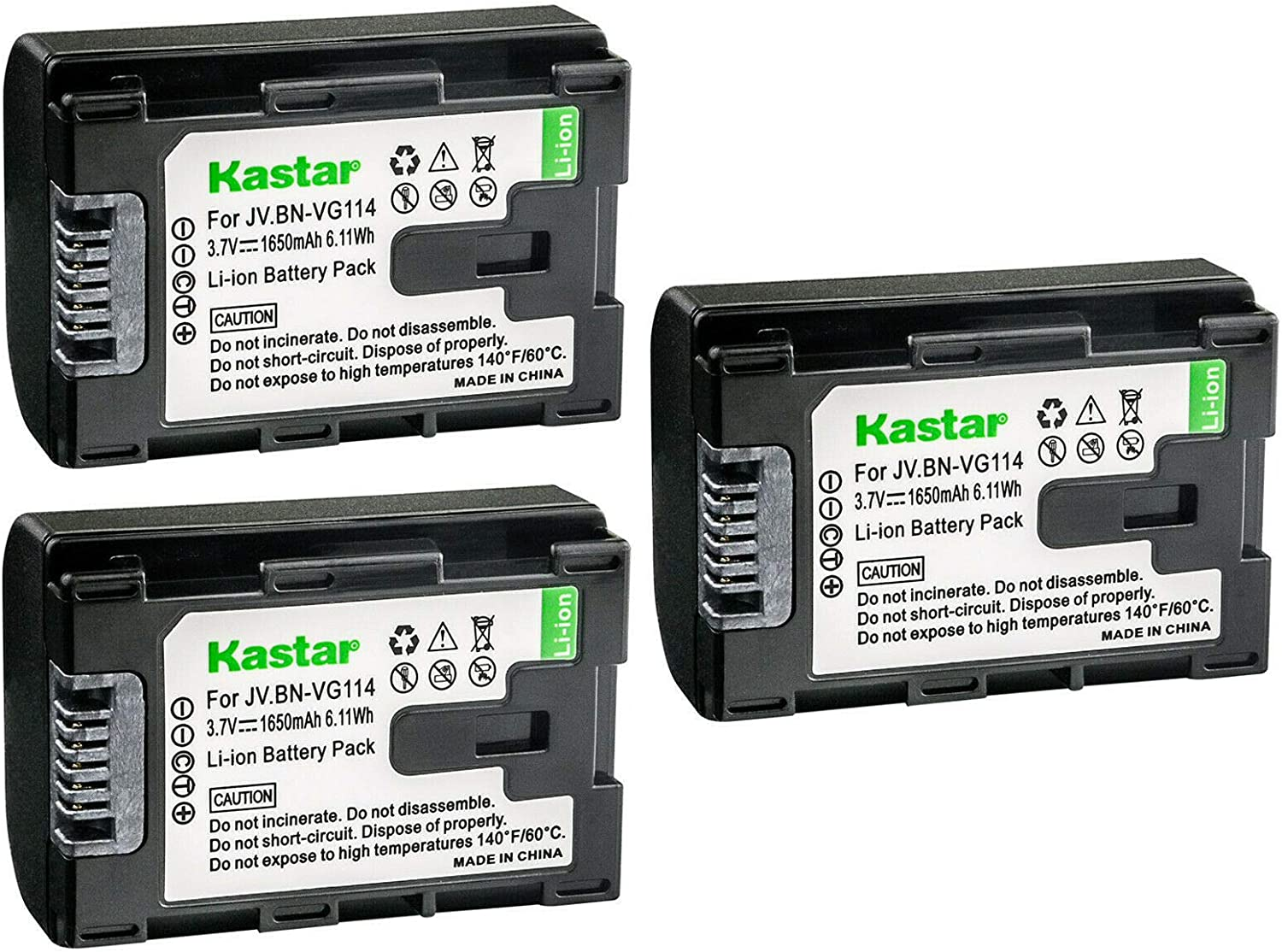 Kastar 3-Pack Battery Replacement National Be super welcome products for BN BN-VG107AC JVC BN-VG107
