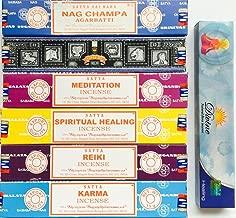 Satya Incense Gift Set Nag Champa Superhit Meditation Spiritual Healing Reiki Karma- Free Sample of Divine Incense included