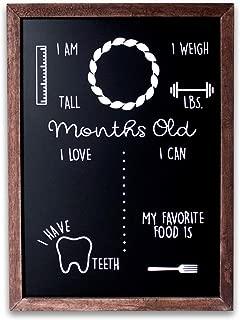 Olive & Emma Baby Monthly Milestone Chalkboard   12