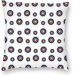 Soft and Cozy Throw Pillow Cover Zippered Pillowcover Farmhouse Decor for Bedding Couch Chair Car Livingroom, Hypoallergenic Hotel Luxury - Archery Target Colorado Circular