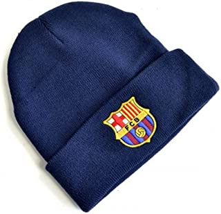 FC Barcelona Crest Knitted Turn Up Hat
