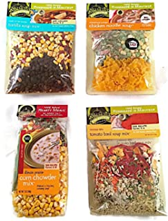 Frontier Soups Bestsellers Bundle: (1) Connecticut Cottage Chicken Noodle, (1) Mississippi Delta Tomato Basil, (1) South of the Border Tortilla and (1) Illinois Prairie Corn Chowder (4 Bags Total)