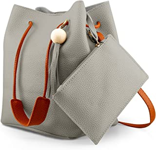 Fashion Tassel buckets Tote Handbag, Women Messenger Hobos Shoulder Bags, Crossbody Satchel Bag