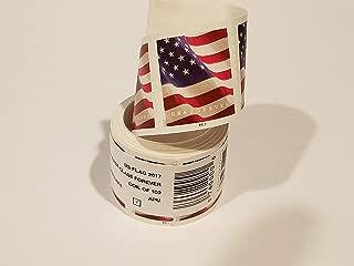 200 Forever Stamps- 2 rolls 2017 Forever U.S. Flag Stamp coil