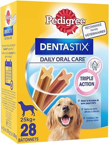 Pedigree Dentastix - Friandises pour grand chien, 112 bâtonnets à mâcher pour l'hygiène bucco-dentaire (Lot de 4 boit...