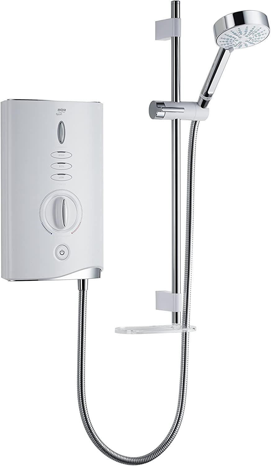 Mira Showers 1.1746.008 Sport Max 10.8 kW Electric Shower - White Chrome