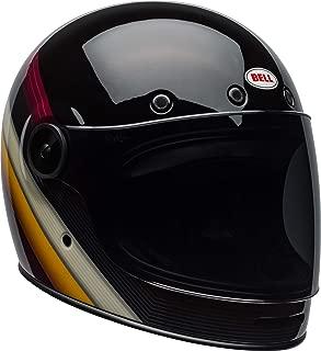 Bell Bullitt Full-Face Motorcycle Helmet (Burnout Gloss Black/White/Maroon, XX-Large)