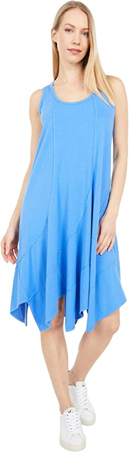 Cotton Modal Spandex Jersey Swirl Seam Tank Dress