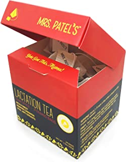 Mrs. Patel's Lactation Tea, Chai Spice Blend, Rich & Sweet for Breastfeeding & Pumping Moms, Drink Iced or Hot, Eco-Friend...