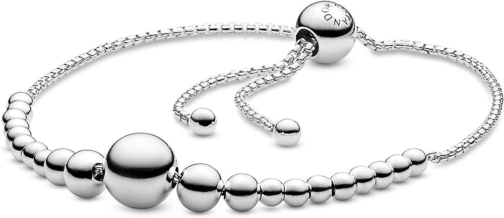 Pandora braccialetto scorrevole con perline in metallo  in argento sterling 925 597749-2