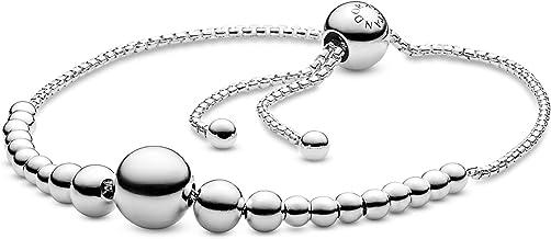 Pandora Jewelry String of Beads Sliding Bracelet Sterling Silver Bracelet, 9.8