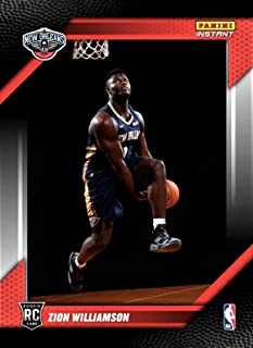 ZION WILLIAMSON Rookie Basketball Card - Panini - First Authentic Zion Rookie Card in Pelicans Jersey! Offered by