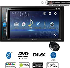 Pioneer AVH-221EX Multimedia DVD-Receiver + Bullet Style Backup Camera with Sound of Tri-State Lanyard Bundle