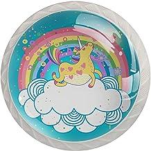Lade handgrepen trekken ronde kristallen glazen kast knoppen keuken kast handvat,Cloud Rainbow