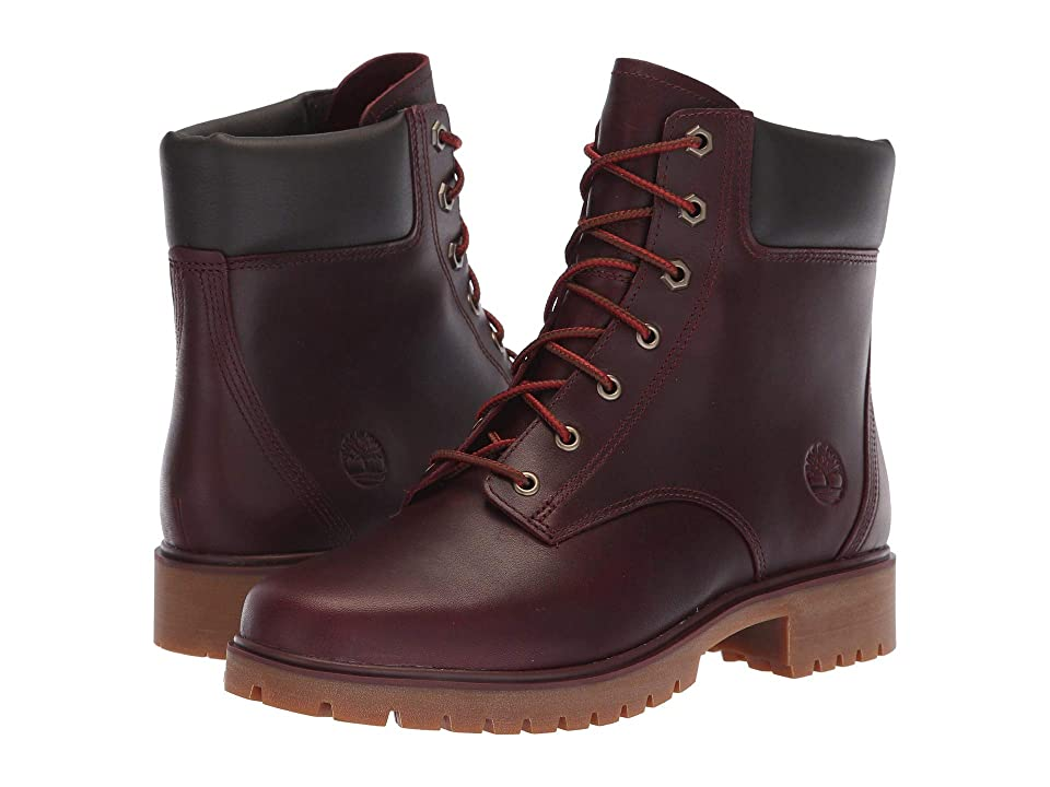 Timberland Jayne 6 Waterproof Boot (Burgundy Full Grain) Women