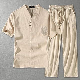 Tai Chi Clothing Martial Arts Uniforms Tai Chi Uniform, Traditional Hanfu Tang Suit Martial Arts Clothing Short Sleeve Kun...