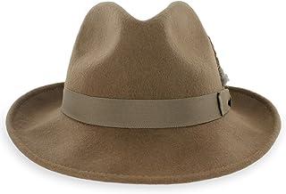 Belfry Crushable Dress Fedora Men s Vintage Style Hat 100% Pure Wool in  Black Blue Grey 95bebf5fe34da