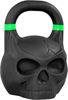 Yes4All Solid Cast Iron Skull Kettlebell - Available: 10, 12, 14, 16 to 32kg Kettlebell Weights