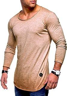neveraway Men's Hipster Sweatshirt Hip Hop Shirts O Neck Tees T Shirts Tops