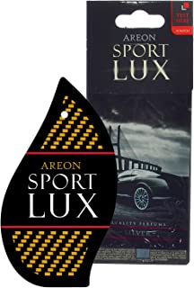 Areon Sport LUX Quality Perfume/Cologne Cardboard Car & Home Air Freshener, Silver