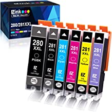 E-Z Ink (TM) Compatible Ink Cartridge Replacement for Canon PGI-280XXL CLI-281XXL PGI 280 XXL CLI 281 XXL to use with PIXMA TS9120 TS8120 TS8220 (PGBK, Black, Photo blue, Cyan, Magenta, Yellow) 6 Pack
