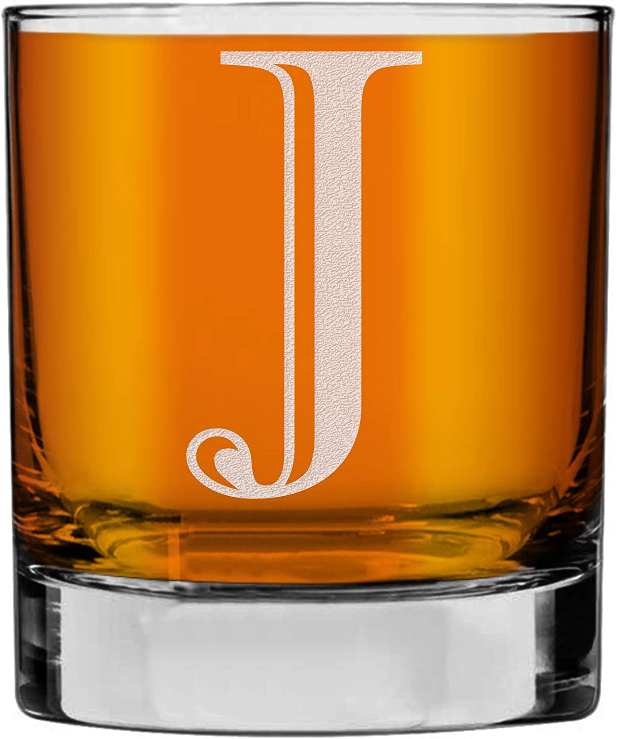 Etched Monogram 10.25oz Rocks Old Lowball Fashioned Wh for A surprise price is Colorado Springs Mall realized Glass