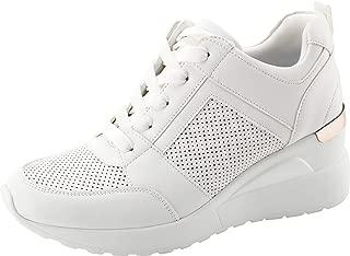 Women's Hidden Wedge Sneakers High Heel Fashion...