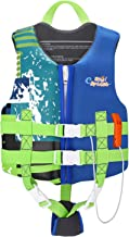 HeySplash Life Jacket for Kids, Child Size Watersports Swim Vest Flotation Device, Boys Girls Swim Training Aid Suitable for 35-55 lbs(Size M) & 55-77 lbs(Size L)