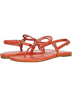 COACH Jeri Sandal,Geranium Smooth Leather