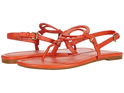 COACH Jeri Sandal (Geranium Smooth Leather) Women