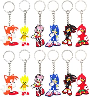flower key chains 8pcs key ring for kids backpack, Birthday Party Supplies Party Favors for Kids Carnival Prizes for Kids School Classroom Rewards