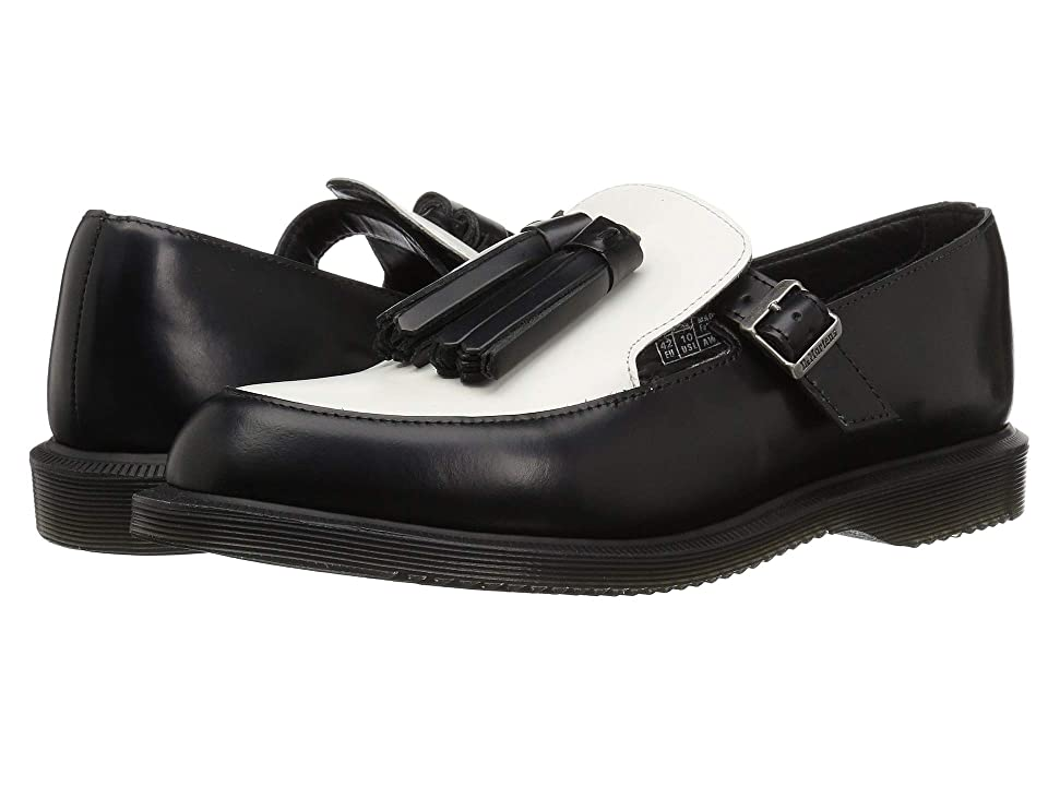 Dr. Martens Gracia Kensington (Black Polished Smooth/White Smooth) Women
