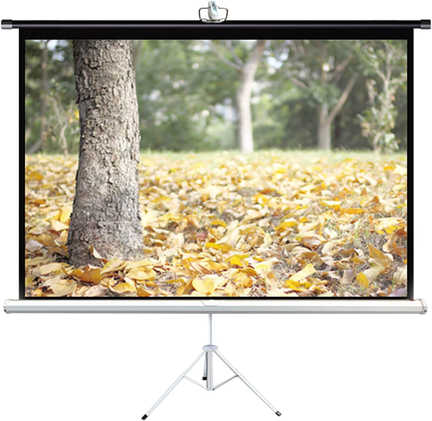 LIUU Projector Screen with Stand 60 Inches Pro Portable Popular brand in the world 4:3 Many popular brands 16:9