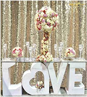 ShiDianYi 8ft X 8ft, Ready to Dispatch,Light Gold Sequin Backdrops, Light Gold Sequin Photo Booth Backdrop, Party Backdrops,Wedding Backdrops, Sparkling Photography Prop