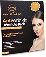 Glowing Avenue Anti Wrinkle Chest Pads - 2 Pack Reusable Chest Wrinkle Pads - Medical Grade Silicone Chest Wrinkle Pad For Treatment & Prevention Of Chest Wrinkles - Decollete Anti Wrinkle Chest Pads