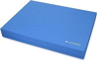 Navaris colchoneta de coordinación - Plataforma de Equilibrio para Ejercicios de Yoga y Pilates - Cojín Fitness 50 x 39 x 6.5CM - Almohadilla -Azul