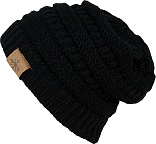 ANGELA & WILLIAM Winter Warm Thick Cable Knit Slouchy Skull Beanie Cap Hat