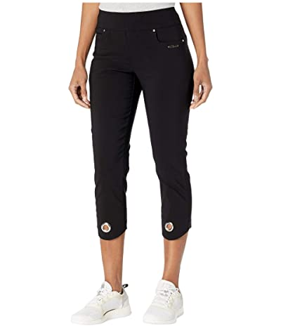 Jamie Sadock Skinnylicious Mid-Capris Pants with Control Top Panel (Jet Black) Women