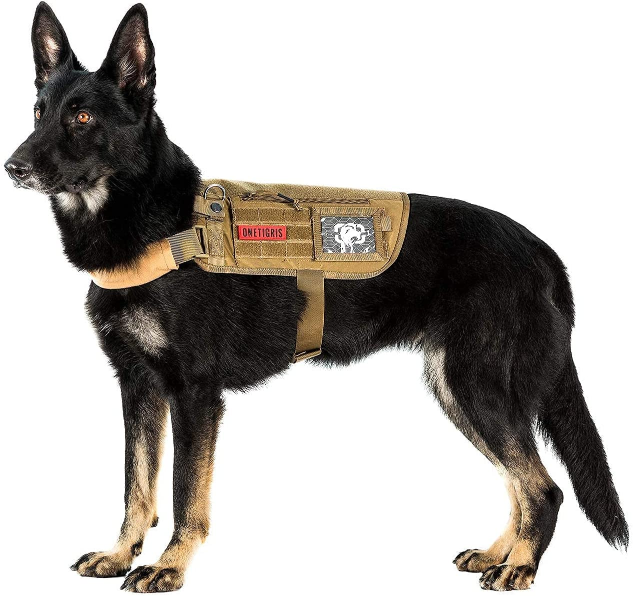Service Dog Super intense SALE Harness Tactical Vest- Neck Removable Comp Regular dealer Strap