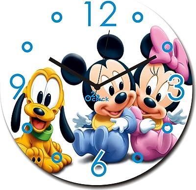 2 O Clock Mickey Mouse and Team Wall Clock