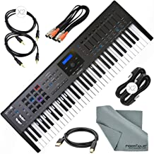 Arturia KeyLab MKII 61 Professional MIDI Keyboard Controller and Software with Assorted Cables Bundle (Black)