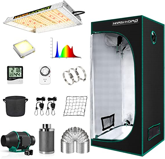 Marys-Hydro Grow Tent Kit Complete TS 600W LED Grow Light 2x2ft Full Spectrum Indoor Grow Tent Kit