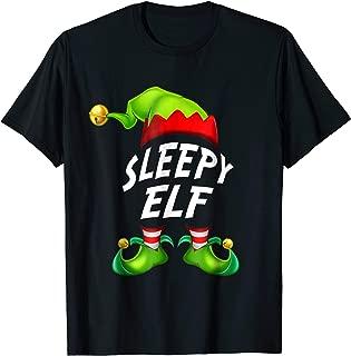 Christmas Funny Sleepy Elf Shirt Gift Family Matching Tee