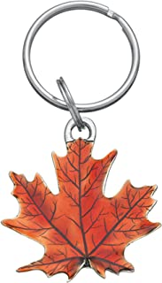 DANFORTH - Maple Leaf Keyring (Autumn) - Pewter - Key Fob - Handcrafted - Made in USA