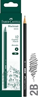 Faber-Castell Graphite Pencil 1111 2B, Pack of 12, (12-111102_12)