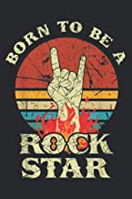 Born To Be Rock Hand Horns Vintage Retro: Undated Daily Planner Journal - 6 x 9 inch Notebook Planner, Daily Organizer, 11...
